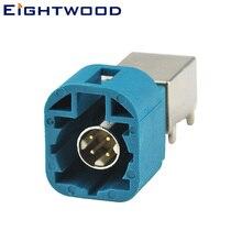 Eightwood Fakra HSD RF автомобильный коаксиальный разъем Fakra 4pin Код Z Jack Женский печатной платы крепление прямоугольный спутниковый радиоадаптер