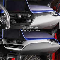 For Toyota C-HR CHR 2017 2018 Inner Central Instrument Control Console Strip Cover Trim Frame Molding ABS Chrome Car Accessories