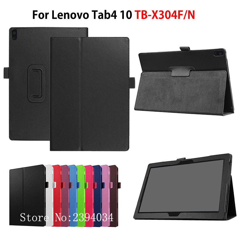Case For Lenovo TAB4 Tab 4 10 TB-X304L TB-X304F TB-X304N 10.1 Smart Cover Funda Tablet Stand PU Leather Protective Skin Shell ultra thin slim stand litchi grain pu leather skin case with keyboard station cover for lenovo ideapad miix 320 10 1 tablet pc