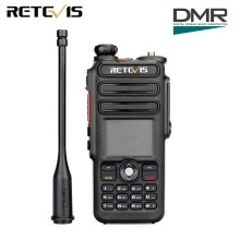 Retevis RT82 GPS Dual Band DMR Radio Walkie Talkie Digital DCDM TDMA IP67 Tahan Air Dua Arah Radio Comunicador
