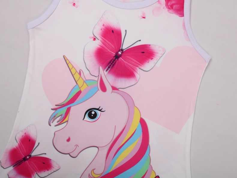 2020 primavera Farfalla Del Bambino Della Ragazza del Vestito 3-8 Anni di Colore Rosa Poco Vestiti Delle Ragazze di Estate Del Fiore Dei Capretti Unicorn Vestito Dalla Ragazza
