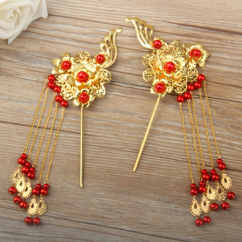 Chinese Traditional Headdress Classical Bridal Hair ...