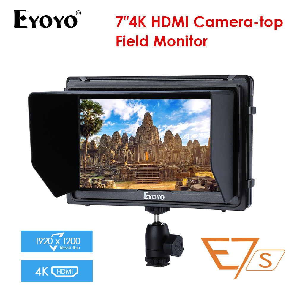 "E7S 7"" Inch monitor 4k dslr IPS Full HD 1920x1200 SDI HDMI On Camera DSLR Field Monitor for BMPCC Canon Sony Nikon Camera"