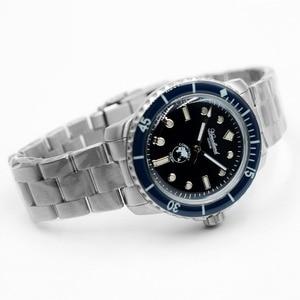 Image 4 - Nieuwe 5015 Heren Rvs Horloge Automatische Duikhorloge 20ATM Sapphireglass Bezel Retro San Martin Mannen Mechanische Horloge