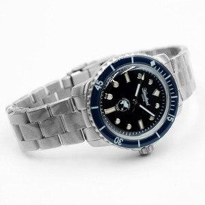 Image 4 - ¡Novedad de 5015! Reloj de acero inoxidable para hombre, reloj de buceo automático, reloj de pulsera mecánico Retro con bisel de cristal de 20ATM de San Martin para hombre