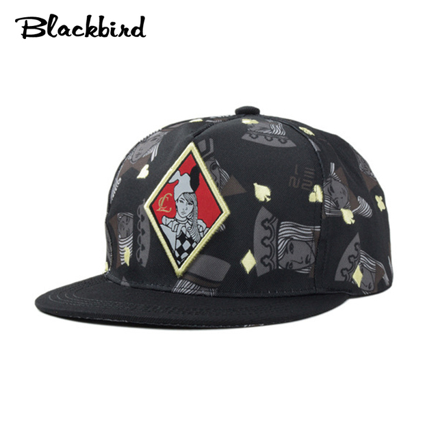 2f04c78a0 US $17.99 |Trendy hip hop poker Embroidery caps hipster snapback hats dance  street gorras 034F-in Men's Baseball Caps from Apparel Accessories on ...