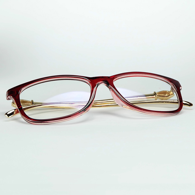 34f0e110ec1 Sexy Lady Luxury Optical Glasses Leopard Head Styling Metal Temples With Good  Quality Plastic Frame Gift Pouch And Cloth