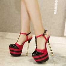 New Womens Sexy Pump 2016 Summer Style Dress Shoes Red Wedding High Heel Women Black Red Platform Pumps Size34-40