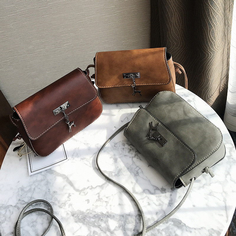 f974b26a3448 2018 New Female Deer Small Package Women Bag Fashion Handbag Student Summer  Korean Tide All Match Shoulder Messenger Bag-in Top-Handle Bags from  Luggage ...
