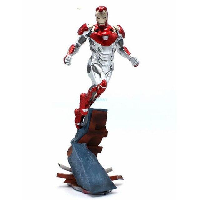 """11 """"os vingadores: endgame Posição MK47 Voando de Super-heróis Homem De Ferro 1/10 PVC Action Figure Collectible Modelo Toy BOX 27 CM Z1008"""