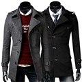 2017 new mens winter coat woolen jacket male outwear overcoat Black Dark gray M L XL XXL A889