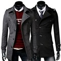 2017 nuevos mens del invierno abrigo de lana chaqueta masculina outwear abrigo negro gris oscuro ml xl xxl a889