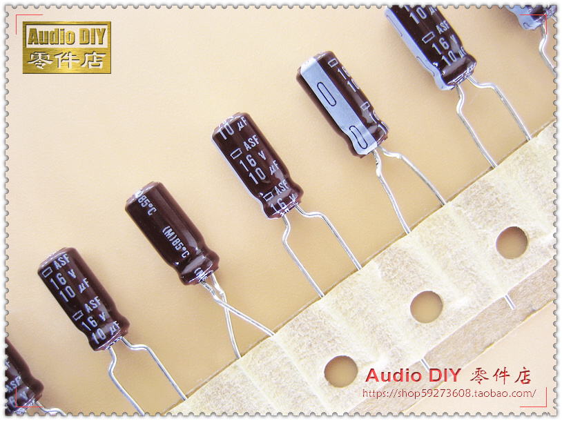 30PCS Japan chemical ASF series 10uF 16V audio electrolytic capacitors free shipping