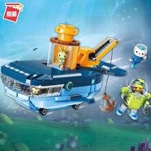 Octonauts Building Block GUP-C Blue Whale Vehicle Barnacles Kwazii Tweak Educational Bricks Toy Compatible Legoes