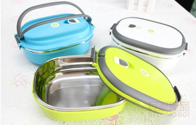 Lunch Box Stainless Steel Bowl Insulated Lunch Free Shipping Factory