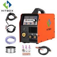 HITBOX сварочный аппарат MIG200 MMA TIG миг функции сварочные аппараты 220 В аксессуары миг MAG сварщик