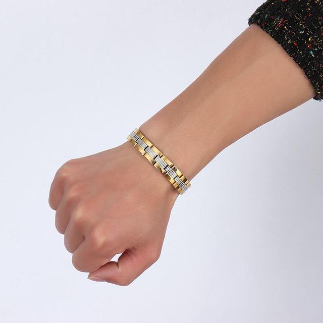 мужские браслеты высокого качества из нержавеющей стали магниты фотография