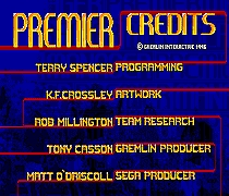 Premier Credits 16 bit MD Game Card For Sega Mega Drive For Genesis