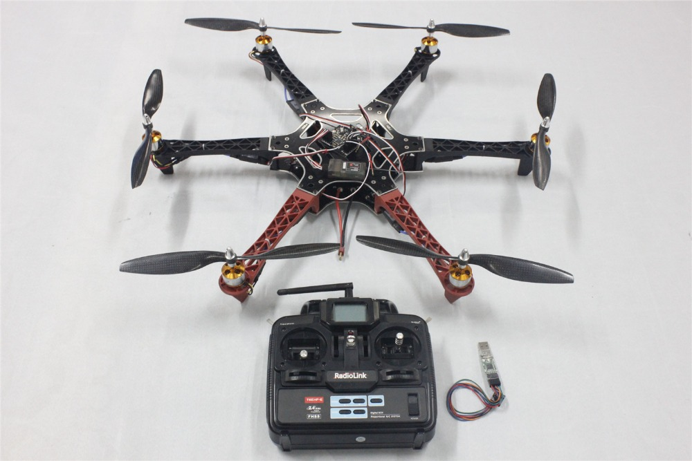 F05114-S F550 Drone FlameWheel Kit With KK 2.3 HY ESC Motor Carbon Fiber Propellers + RadioLink 6CH TX RX + Freeship