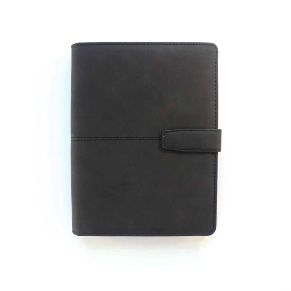 Domikee classic office school leather 6 holes binder spiral notebooks