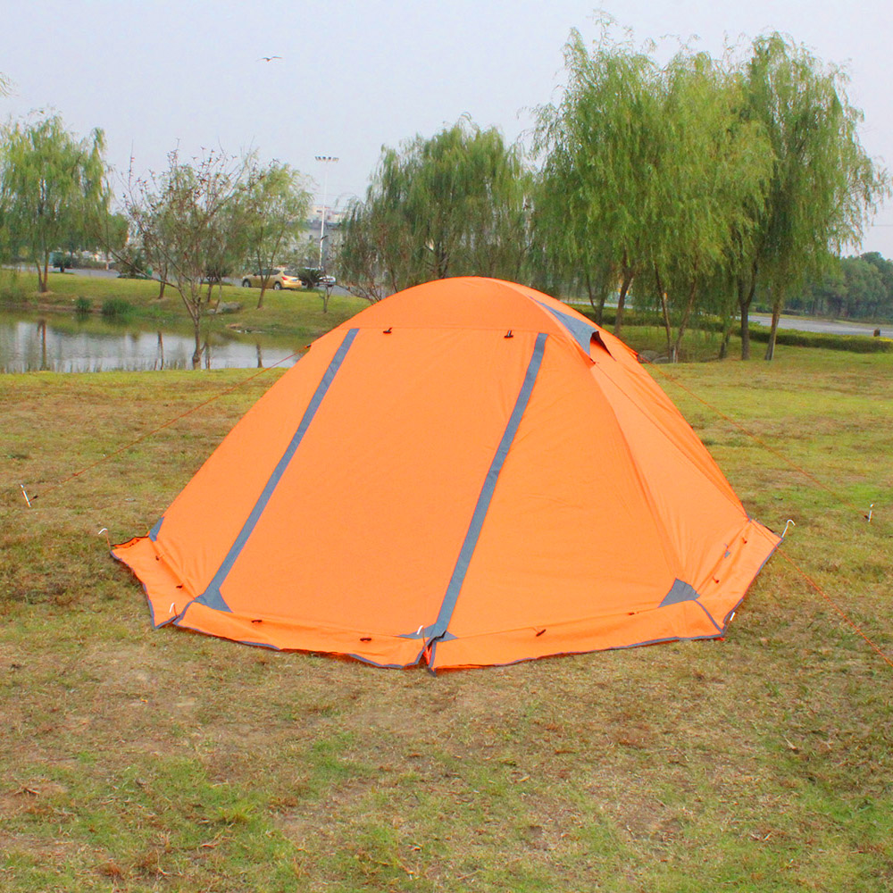 FLYTOP Portable 1-2 Person Camping Tent Double Layer Tent Windproof Waterproof Shelter Aluminum Rod Outdoor Tourist Travel Tent yingtouman outdoor 2 person waterproof double layer tent fiberglass rod portable ultralight camping hikingtents