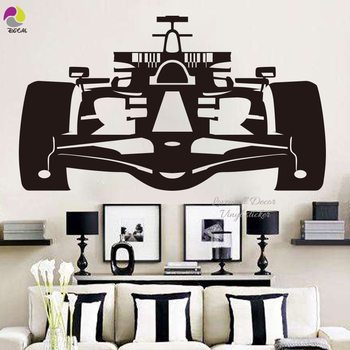 NEW Racing Car Wall Decal Art Shelby VW CHEVROLET GT Ford Mustang Muscle rc car Home Decor Vinyl Wall Sticker Boy Room Mural image