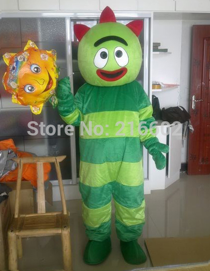 US $160 0 |2017 High quality adult size Yukio okamoto, Gabba gabba Mascot  costumes Costume party Free shipping-in Anime Costumes from Novelty &
