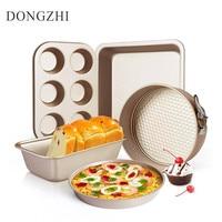 Luxurious Kitchen Bakeware Mold Set Pizza Pan Cake Mold For Baking Cake Decorating Tools 5 Pcs Baking Pans Baking Tools BK031