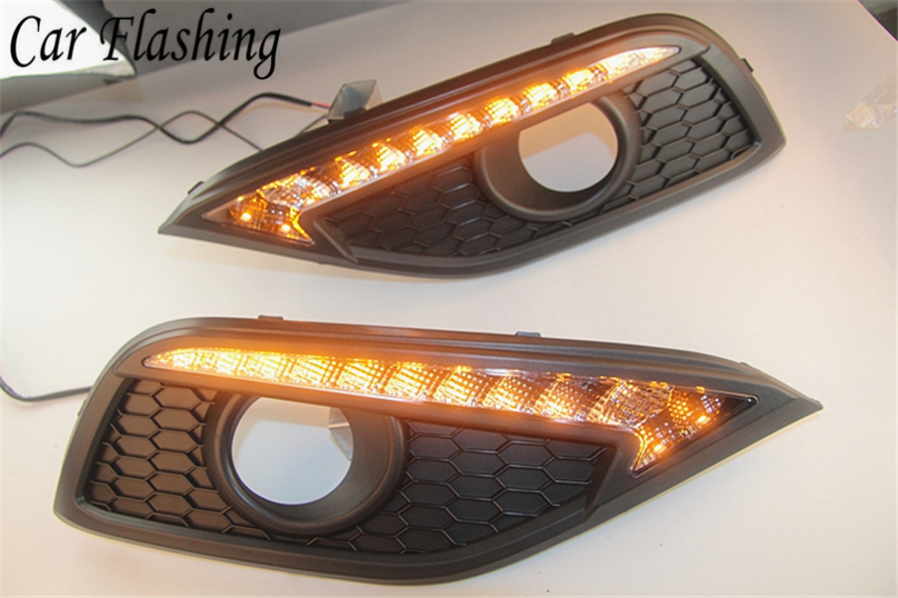 Car Flashing For Honda CRV CR V 2012 2013 2014 LED DRL Daytime Running Lights Daylight