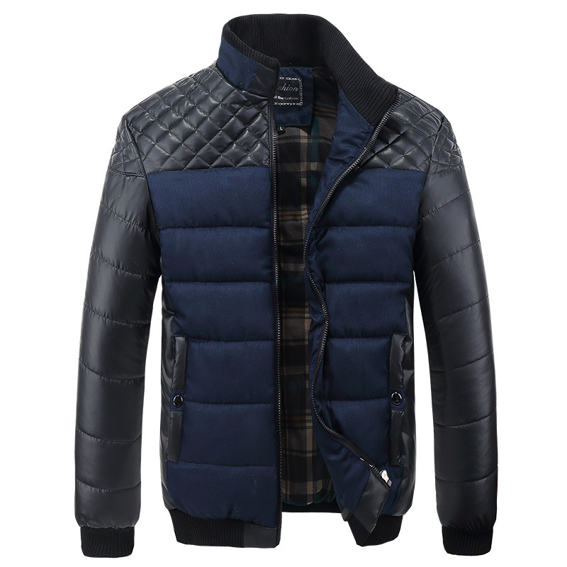 2016 New Men's Winter Jacket Warm Thick Coats Patchwork Male Fashion Thermal Brand Clothing Casual Down Cotton Parkas ,4XL LA065