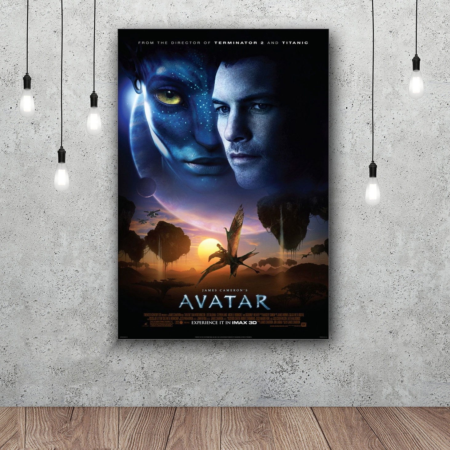 Avatar 2 Poster: Avatar 2 Classic Movie Silk Poster Decorative 12x18
