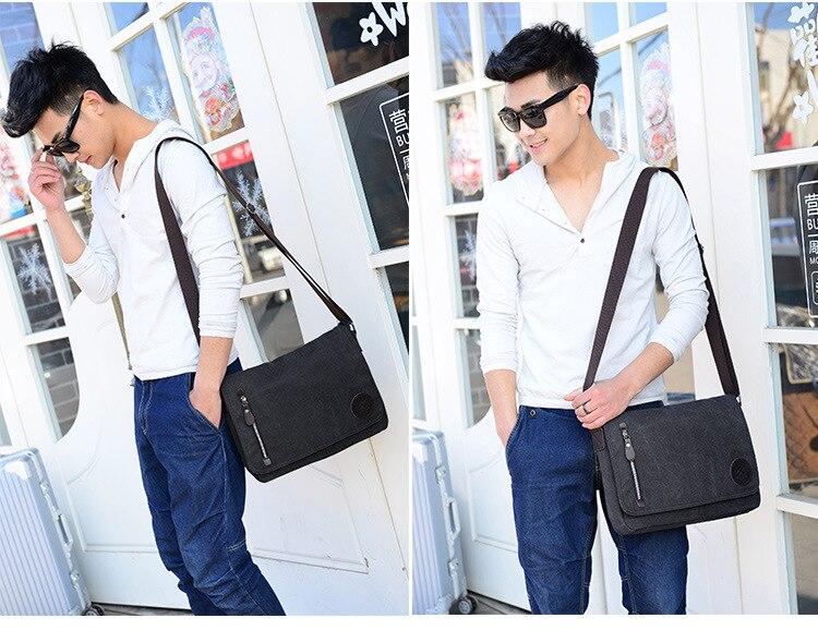 2019 Vintage Men's Briefcase Canvas Men Messenger bag Classic Designer Shoulder Bags Pocket Casual Business Laptop Travel bags