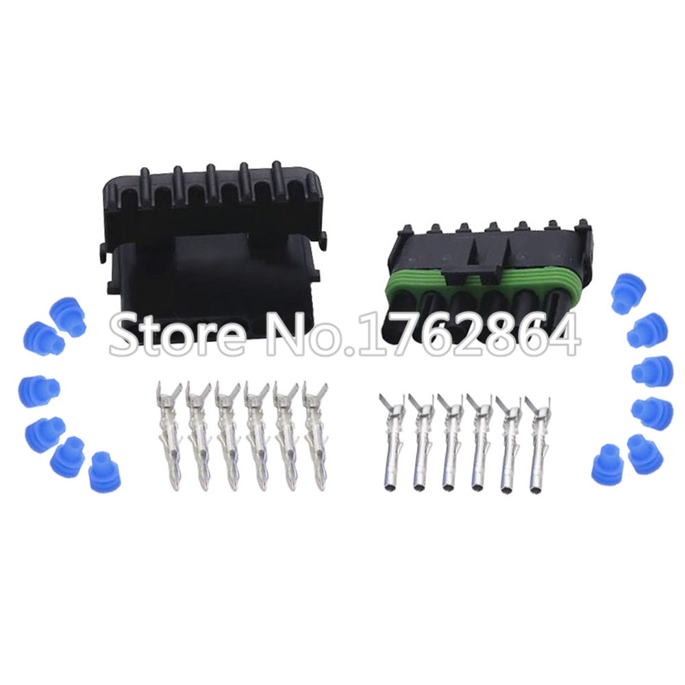 6 Pin DJ3061Y-2.5-11/21 Female Male Weather Pack Electrical Wire 2.5 Connector Plug Sealed Wiring Automobile Connectors 13 pin car stereo wire wiring harness plug for eu cars before 08 black