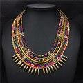 Nuevo Color Africano Cuentas de Collar Hecho A Mano de Bohemia Mujeres Accesorios de Joyería de Moda Collar de Gargantilla Borla Joyas de Oro Africano
