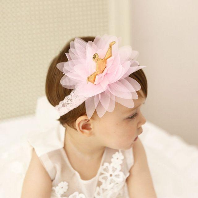 eb5da2cc40e 2018 Elastic Hair Band Cute Kids Hair Accessories Pink And Beige Crown  Flowers Hairbands Girls Headwear