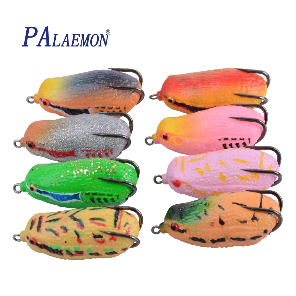 PALAEMON Soft Fishing Lure 68mm / 25g 3D Eyes Hoge kwaliteit Kopper Live Target Frog Lure Bass Aas