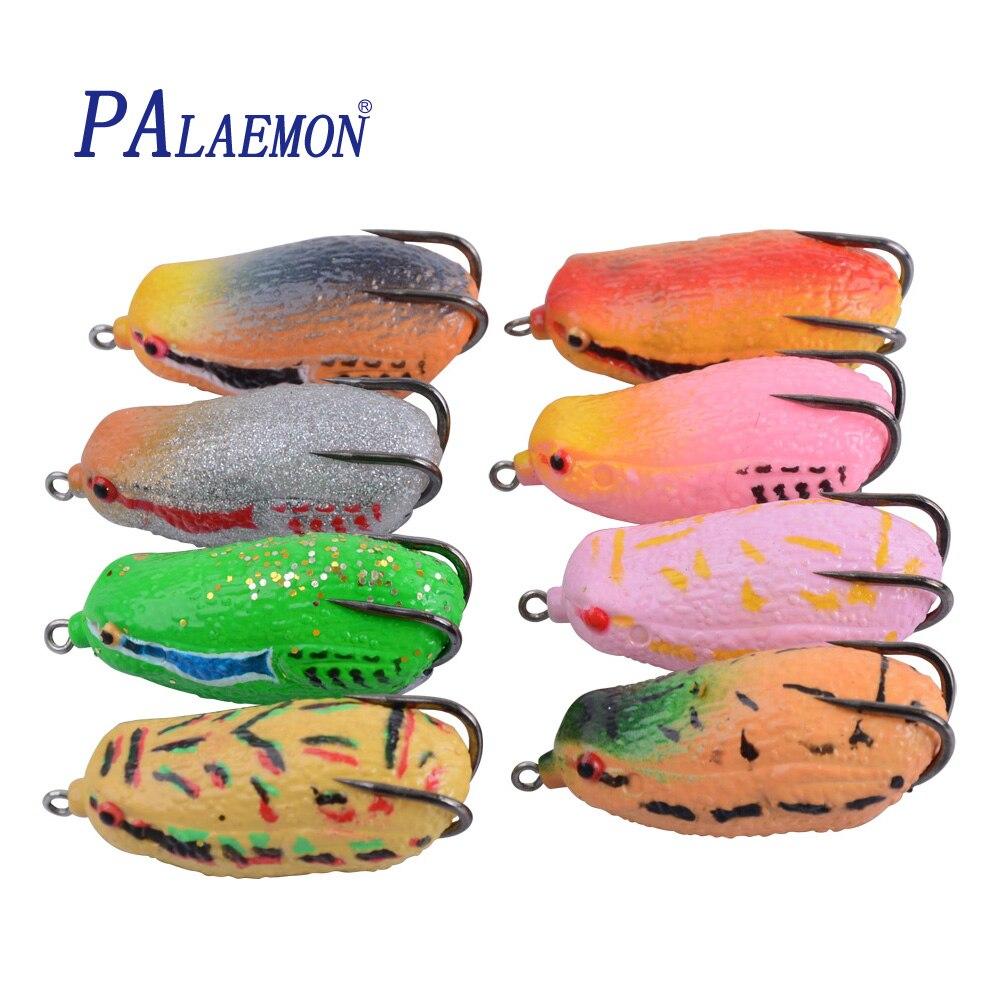 PALAEMON señuelo suave 68mm/25g 3D ojos alta calidad Kopper Live Target Rana señuelo cebo bajo