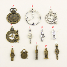 20Pcs Wholesale Bulk Jewelry Findings Components Clock Tower Diy Accessories Female HK152