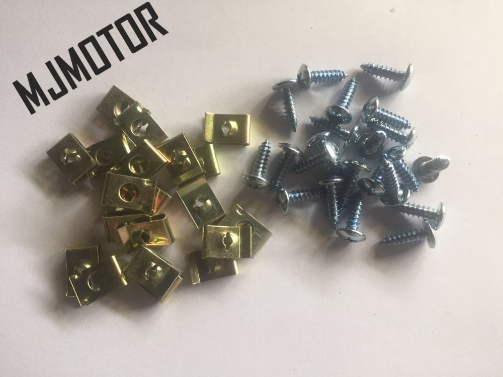 (100pcs/set) M5 Screws and Fastener Body U clips for Chinese scooter Honda yamaha QJ Keeway Kymco ATV bike Plastic use part