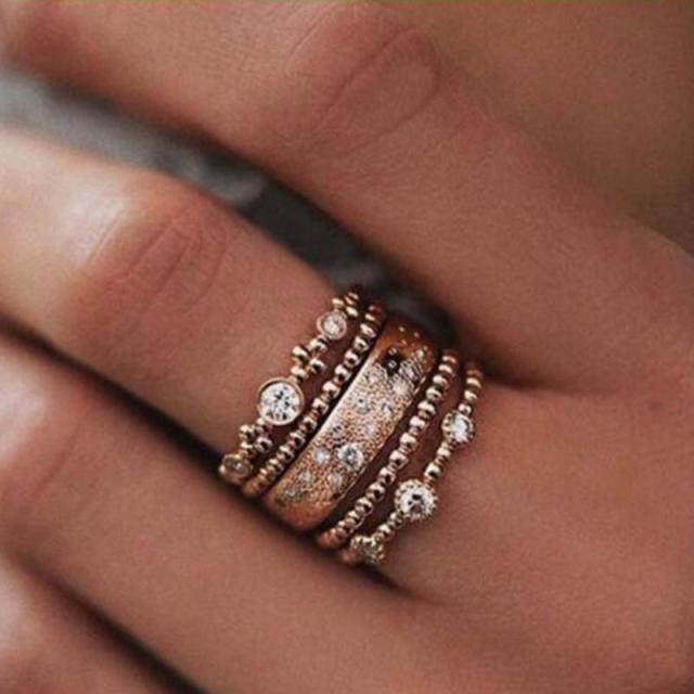 stacking rings listing au gold stack ring il twist stacked rose fill