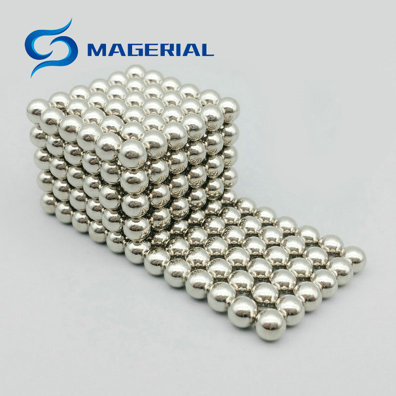 1 set/216 pcs NdFeB Magnet Balls Nickle Color Diameter 5 mm with Steel Box Neodymium Sphere Permanent Magnets Rare Earth Magnets 4 7 5mm neodymium nib magnet spheres with steel case silver 216 piece pack