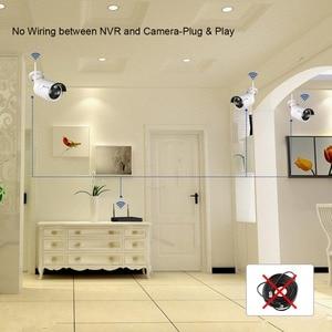 "Image 5 - Techage 2 1 4ch 1080 p 12 ""lcd 무선 nvr wifi cctv 시스템 야외 2mp 오디오 레코드 사운드 카메라 p2p 비디오 감시 키트"