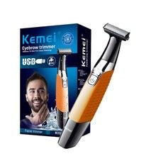 Une lame hommes rasoir électrique corps visage rasoir électrique pour mâle chaume tondeuse barbe rasage bord tête