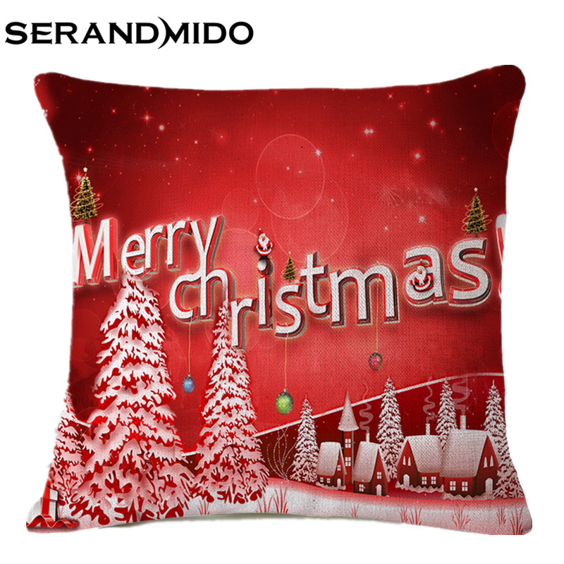 Shabby Chic Christmas Pillows : Decorative Cushion Covers Christmas Throw Pillow Cover Shabby Chic Home Decor Red Cushion ...