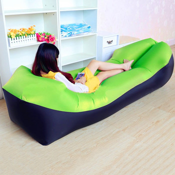 2019 Hot Sale Fast Inflatable Sofa Lazy Bag Sleeping Bag 240*70cm Camping Portable Air Banana Sofa Beach Bed Air Hammock Nylon
