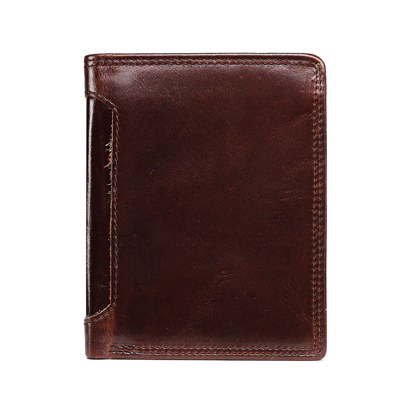 Vintage Men Wallet Short Purses Oil Wax Cow Leather Wallets Fashion Multi-bits Credit Card Money Cash Holder Coin Purse For Male hot sale owl pattern wallet women zipper coin purse long wallets credit card holder money cash bag ladies purses