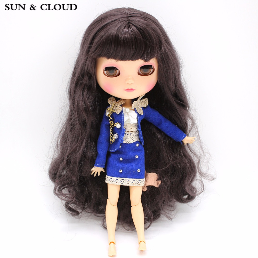 SUN & CLOUD Blue Suit Set Uniform Skirt Suit Clothes con sujetador - Muñecas y accesorios - foto 3
