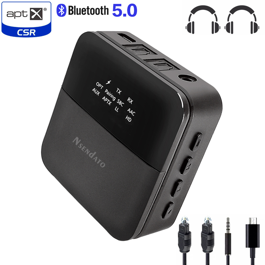 Funkadapter Csr8675 Bluetooth 5,0 Empfänger Sender Aptx Hd Wireless Audio Adapter Niedrigen Latenz 3,5mm Optische Adapter Für Tv/home /auto Weniger Teuer Unterhaltungselektronik