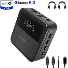 CSR8675 Bluetooth 5,0 Empfänger Sender APTX HD Wireless Audio Adapter Niedrigen Latenz 3,5mm Optische Adapter für TV/Home /auto