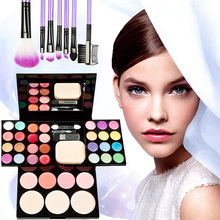 Whole Cosmetic Set 7pcs Makeup Brushes Eyebrow Palette Foundation Palette Blusher Lipstick Make up Kit